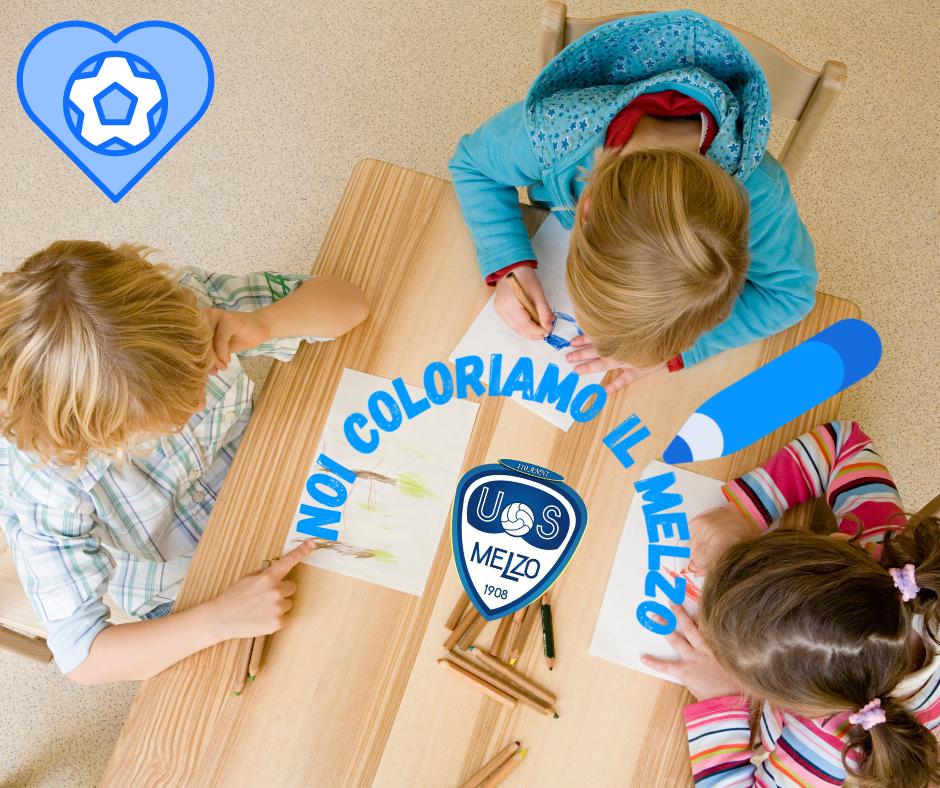 Noi coloriamo il Melzo: i piccoli disegnano la loro passione biancazzurra