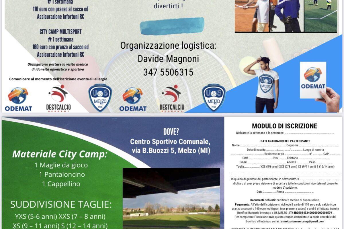 US Melzo firma anche il Summer Camp 2021